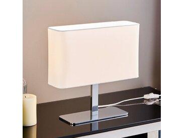 Lampe à poser textile rectangulaire blanche Nisa