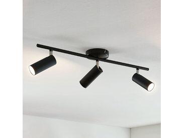 Plafonnier LED Camille, noir, 3 lampes