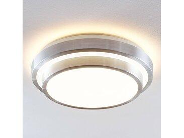 Lindby Naima plafonnier LED, alu, rond, 41 cm