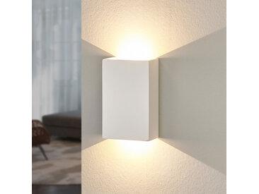 Applique LED Fabiola en plâtre, hauteur 16cm