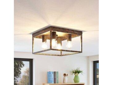 Lindby Lejus plafonnier à 4 lampes, rouille