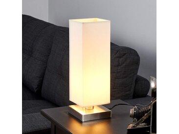 Martje - Lampe à poser blanche avec LED E14– LAMPENWELT.com