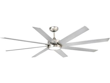 Ventilateur de plafond LED Century nickel mat gris
