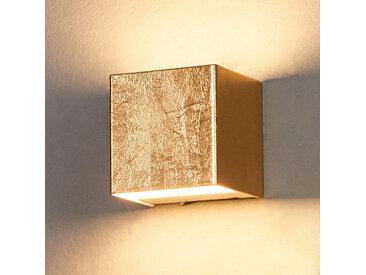 Applique LED dorée Quentin, 9 cm