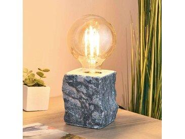 Lampe à poser Stone en marbre gris– LAMPENWELT.com