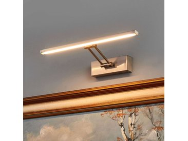Applique tableau LED Emilias, nickel mat, 35 cm– LAMPENWELT.com