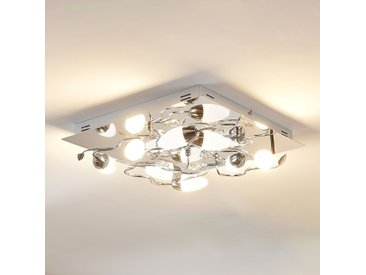 Plafonnier LED dimmable Mischa, 8 lampes, carré– LAMPENWELT.com