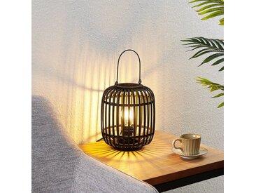 Lindby Canyana lampe à poser en rotin, noire