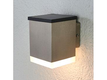 Applique solaire LED Tyson, angulaire, satinée