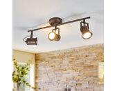 Plafonnier LED Cansu rustique, brun