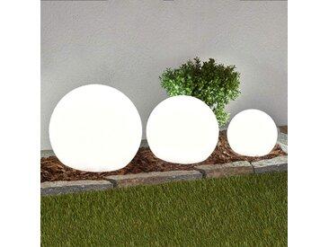 Lampes solaires LED par 3 Lago, sphères– LAMPENWELT.com