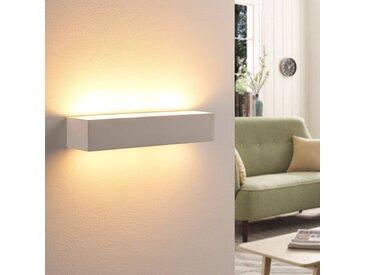 Arya - applique murale LED en plâtre blanc