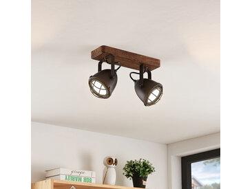 Lindby Adeon plafonnier LED, à 2 lampes