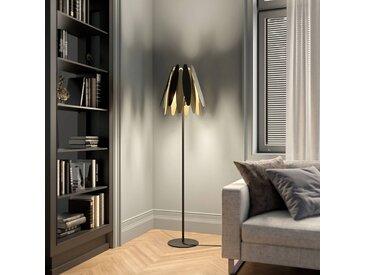 Lucande Lounit lampadaire, noir-doré