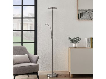 Lindby Kavi lampadaire LED avec liseuse, rond