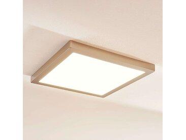Plafonnier carré LED Solvie, nickel– LAMPENWELT.com