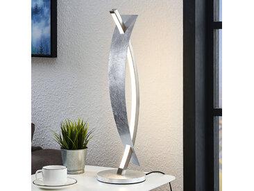 Lampe à poser LED Marija, bel aspect argenté