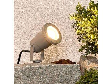 Tomislav - lampe sur piquet en gris– LAMPENWELT.com