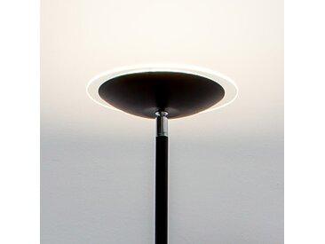 Lampadaire à éclairage indirect LED Malea noir