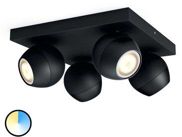 Philips Hue Buckram 4 lampes variateur noir
