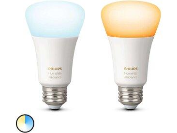 Philips Hue White Ambiance E27 8,5W, lot de 2