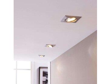 Lampes LED encastrées chromé rectangulaires par 3– LAMPENWELT.com
