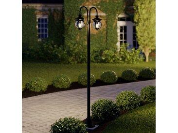 Lindby Farley lampadaire d'extérieur à 2 lampes