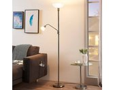 Lampadaire LED Jost nickel à lampe de lecture