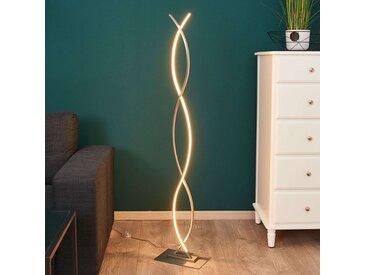 Lampadaire LED Bobi, de forme galbée– LAMPENWELT.com