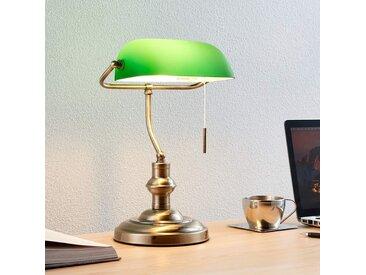 Milenka - lampe de bureau avec abat-jour vert– LAMPENWELT.com