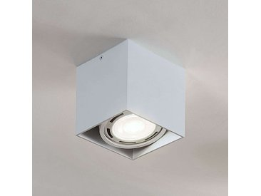 Downlight LED Rosalie à 1 lampe, angulaire, blanc– LAMPENWELT.com