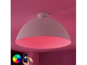 Lindby Smart plafonnier LED Bowl 51cm blanc– LAMPENWELT.com