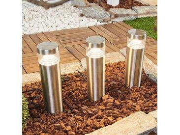 Jeu de 3 lampes sur piquet LED Agathe– LAMPENWELT.com