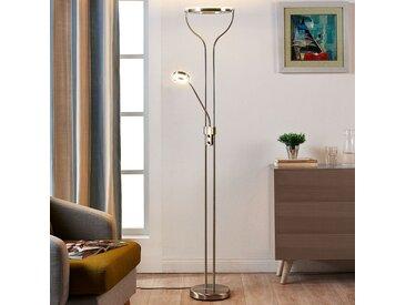 Lampadaire LED circulaire Lana avec liseuse