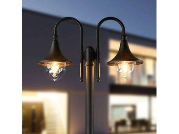 Lampadaire à 2 lampes Lilou en aluminium– LAMPENWELT.com