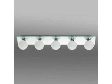 Plafonnier pour salle de bains LASS à 5 lampes