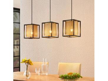 Lindby Daiana suspension nid d'abeilles, 3 lampes