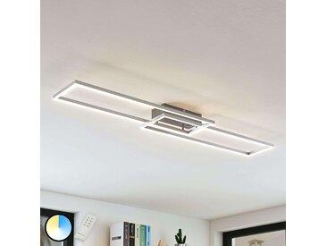 Plafonnier LED Quadra, dimmable, 2 lampes, 110cm– LAMPENWELT.com
