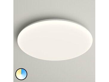 Plafonnier LED Azra, blanc, rond, IP54, Ø 40 cm– LAMPENWELT.com