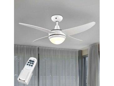 Ventilateur de plafond lumineux Finnley blanc– LAMPENWELT.com