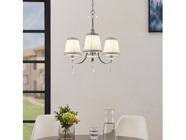 Lindby Haldir Lustre à 3 lampes, chromé