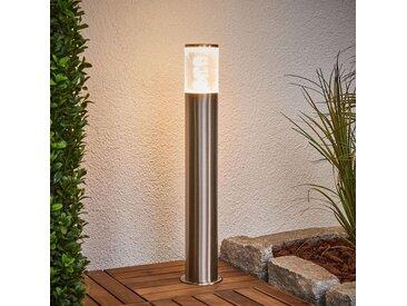 Luminaire pour socle Belen en inox avec LED– LAMPENWELT.com