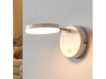 Applique LED blanche Milow avec interrupteur