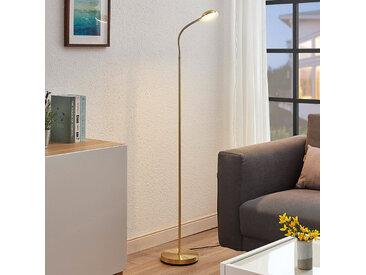 Liseuse LED Giacomo avec bras flexible, laiton