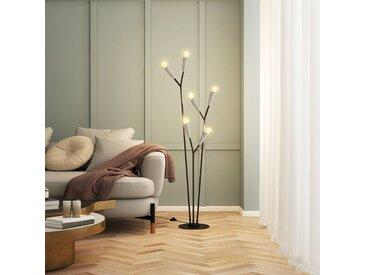 Lucande Carlea lampadaire, 6 lampes, noir-nickel