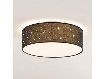 Lindby Ellamina plafonnier LED, 40cm, noir