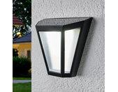 Applique solaire LED Yago, abat-jour givré