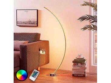 Lampadaire LED Amaro RVB en forme de C– LAMPENWELT.com