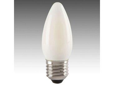 Ampoule flamme LED E27 4W 827, satinée