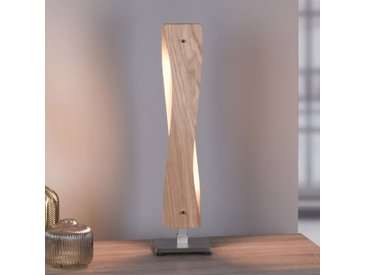 Lucande Lian lampe à poser LED, chêne